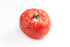 Замороженный томат изолированный на белой предпосылке Стоковые Изображения