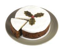 Замороженный торт плодоовощ рождества стоковое фото rf