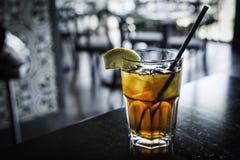 Замороженный холодный освежая чай со льдом Стоковые Фотографии RF