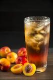 Замороженный чай персика Стоковая Фотография