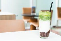 Замороженный latte зеленого чая macha Стоковая Фотография RF