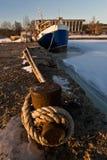замороженным вода вставленная кораблем Стоковое Фото