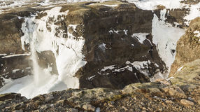 2 замороженных водопада в Исландии Стоковая Фотография RF