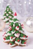 2 замороженных печенья пряника Стоковое Фото