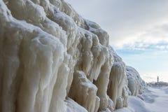заморожено над пристанью стоковое фото rf