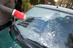 Заморозок на окне автомобиля Стоковая Фотография RF