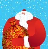 Заморозок отца Санты Клауса русского большой - дед в красном костюме иллюстрация штока
