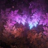 Заморозок фрактали, красочная тема зимы бесплатная иллюстрация