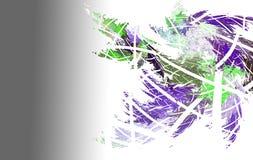 Заморозок фрактали на стекле иллюстрация штока