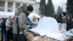 Заморозьте архитектора, Shrovetide (Maslenitsa), Украина, сток-видео