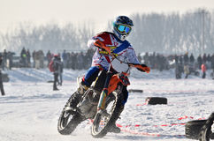 Заморозьте гонки 2017, Januray 22, Santioana de Mures, Румыния Стоковое фото RF