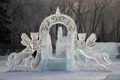 Заморозьте наклон для малых детей с мифическими животными Стоковые Фото
