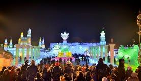 Заморозьте свет в Харбин, Китай, провинцию сильного желания Hei стоковое фото rf