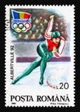 Заморозьте скорость катаясь на коньках, Олимпиады зимы, serie Альбервиля, около 199 стоковое фото rf