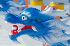 Заморозьте шлюпку дракона на Winterlude на озере ` s Dow Стоковое Изображение RF