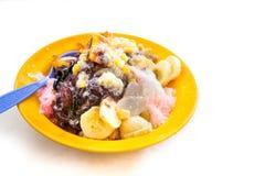 Заморозьте kacang или побритый замороженный сладостный десерт, популярные в Малайзии стоковая фотография rf