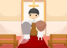 Замужество пар с священником Стоковое Фото