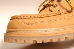 замша ботинка макроса детали Стоковое Фото