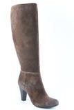 Замша женщин boots коричневый цвет Стоковое Изображение RF
