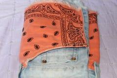 Замыкает накоротко джинсы Стоковые Фотографии RF