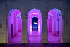 Замысловатость и асимметрия на дворце Vijay Vilas, Bhuj стоковое изображение rf