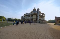 Замысловатость и асимметрия на дворце Vijay Vilas, Bhuj стоковая фотография rf