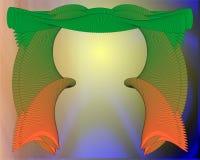 Занавесы в зеленом цвете и апельсине Стоковое Изображение RF