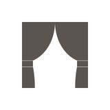 Занавесы значка, иллюстрация вектора бесплатная иллюстрация