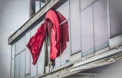 занавесы красные Стоковое Фото