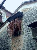 Занавесы сделанные из хот-догов стоковые изображения rf