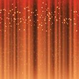 Занавесы цвета hocolate ¡ Ð с волшебной сусалью искрятся иллюстрация штока