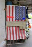 Занавес двери флага США Стоковое Изображение
