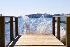 Занавес волны стоковые фотографии rf