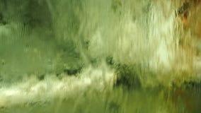 Занавес воды стеклянной стены акции видеоматериалы