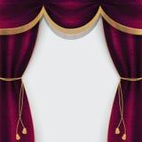 Занавес театра украшенный с краем и tassels бесплатная иллюстрация