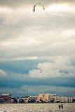 заниматься серфингом змея Стоковая Фотография RF