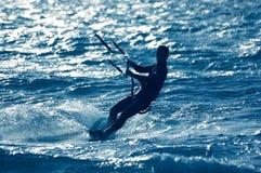 заниматься серфингом змея Стоковые Фото