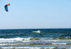 заниматься серфингом моря змея Стоковые Изображения