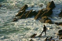 заниматься серфингом риска Стоковое фото RF