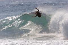 заниматься серфингом Стоковые Изображения RF