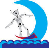заниматься серфингом Стоковые Изображения