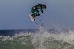 Занимаясь серфингом всадник воздуха стоковая фотография