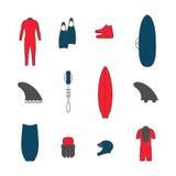 Занимаясь серфингом значки товаров Стоковые Изображения