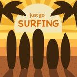 Занимаясь серфингом иллюстрация концепции времени Стоковая Фотография RF