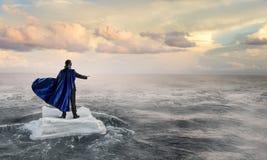 Занимаясь серфингом море на ледяном поле Мультимедиа Стоковая Фотография RF
