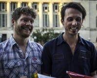 Заново пара гомосексуалиста wed в Висконсине Стоковая Фотография RF