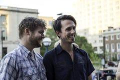Заново пара гомосексуалиста wed в Висконсине Стоковые Фотографии RF