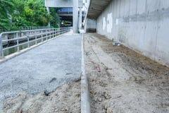 Заново политый цемент Стоковая Фотография RF