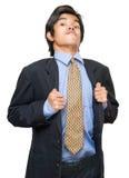 заносчивое положение бизнесмена Стоковые Фотографии RF