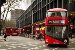 Занятая автобусная станция Лондона Стоковые Изображения RF